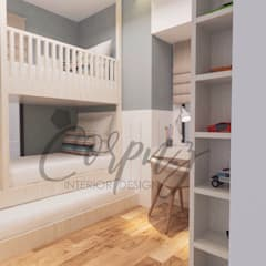 3- Bedroom Condominium Unit:  Nursery/kid's room by Corpuz interior design
