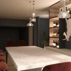 Diseño conceptual de zona de bar para un conocido DJ's من Stockholm Barcelona Design - Interioristas en Barcelona إسكندينافي