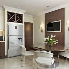 Квартира в ЖК «На Калитниковской» : Встроенные кухни в . Автор – 'INTSTYLE',