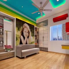 Salas / recibidores de estilo  por Square 4 Design & Build