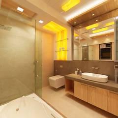 3BHK home design at Lodha in Thane, Mumbai :  Bathroom by Square 4 Design & Build,Modern