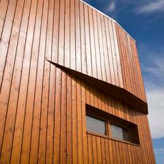 Passive house by GUILLEM CARRERA arquitecte, Scandinavian Wood Wood effect