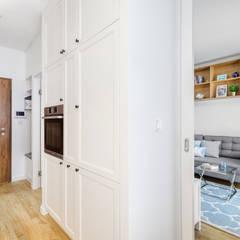 Projekt inspirowany stylem Hampton: styl , w kategorii Kuchnia zaprojektowany przez ZAWICKA-ID Projektowanie wnętrz