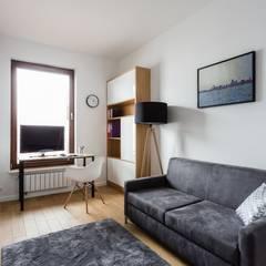 Dla młodego mężczyzny: styl , w kategorii Domowe biuro i gabinet zaprojektowany przez ZAWICKA-ID Projektowanie wnętrz