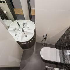 Dla młodego mężczyzny: styl , w kategorii Łazienka zaprojektowany przez ZAWICKA-ID Projektowanie wnętrz