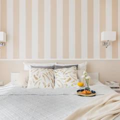 Apartament inspirowany stylem New York Klasyczna sypialnia od ZAWICKA-ID Projektowanie wnętrz Klasyczny