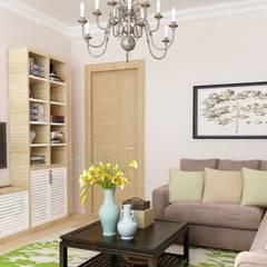 Saha iç mimarlık ofisi – ERENKÖY DAİRE PROJESİ:  tarz Apartman