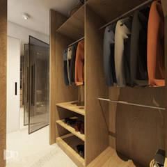 Apartament w Krakowie: styl , w kategorii Garderoba zaprojektowany przez TIKA DESIGN