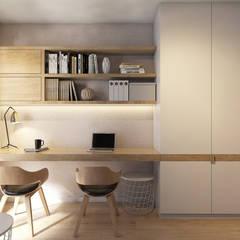 Apartament w Krakowie Nowoczesne domowe biuro i gabinet od TIKA DESIGN Nowoczesny