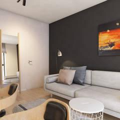 Apartament w Krakowie: styl , w kategorii Domowe biuro i gabinet zaprojektowany przez TIKA DESIGN