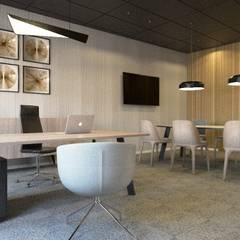 Projekt wnętrza biurowca.: styl , w kategorii Biurowce zaprojektowany przez TIKA DESIGN,