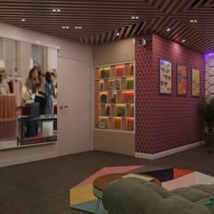 Частный дом в Юкках: Медиа комнаты в . Автор – Wide Design Group