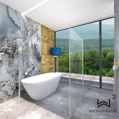 Apartament hotelowy: styl , w kategorii Hotele zaprojektowany przez Wkwadrat Architekt Wnętrz Toruń
