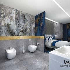 Apartament hotelowy od Wkwadrat Architekt Wnętrz Toruń Nowoczesny Marmur