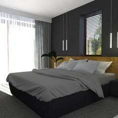 dom//140m Nowoczesna sypialnia od TOTAMSTUDIO pracownia architektury wnętrz Nowoczesny