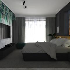 dom//140m: styl , w kategorii Sypialnia zaprojektowany przez TOTAMSTUDIO pracownia architektury wnętrz,Nowoczesny