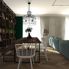 mieszkanie//89 Eklektyczna jadalnia od TOTAMSTUDIO pracownia architektury wnętrz Eklektyczny