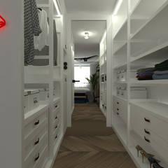 mieszkanie//89: styl , w kategorii Garderoba zaprojektowany przez TOTAMSTUDIO pracownia architektury wnętrz