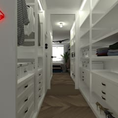 غرفة الملابس تنفيذ TOTAMSTUDIO pracownia architektury wnętrz,