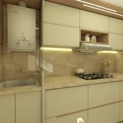 Petites cuisines de style  par CG arquitetura e interiores,