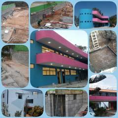 AMPLIACION Y REMODELACION ESCUELA: Escuelas de estilo  por AVANZA ARQUITECTOS, Moderno Ladrillos