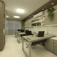 Escritorio corporativo Escritórios minimalistas por CG arquitetura e interiores Minimalista Metal