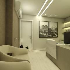 Escritorio corporativo Escritórios minimalistas por CG arquitetura e interiores Minimalista Madeira Efeito de madeira