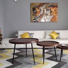 Villa #4 , Pavani Boulevard - Turn Key Project Interior :  Living room by Enrich Interiors & Decors