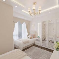 Altuncu İç Mimari Dekorasyon –  Bahçeşehir Akbatı Garanti Koza Evleri Kız Çocuk Odası Tasarımı:  tarz Kız çocuk yatak odası