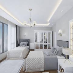 Altuncu İç Mimari Dekorasyon –  Bahçeşehir Akbatı Garanti Koza Evleri Erkek Çocuk Odası Tasarımı:  tarz Erkek çocuk yatak odası