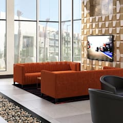 Modern Video Game, Wine Room & Impressive lobby Ideas to enhance Interior Design Studio by Architectural Animation Services, Vegas – USA:  Floors by Yantram Architectural Design Studio
