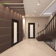 Дизайн интерьера коттеджа 490 кв. м в современном стиле: Лестницы в . Автор – ЕвроДом
