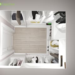 Дизайн трехкомнатной квартиры 120 кв. м в современном стиле: Гардеробные в . Автор – ЕвроДом