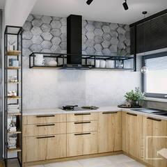 Muebles de cocinas de estilo  por 4 kąty a stół 5 Pracownia Projektowa Ewelina Białobrzewska,