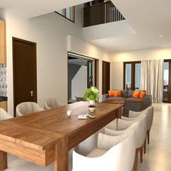 Dharma House: Ruang Makan oleh KuntArch Studio,