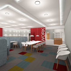 Sanal Mimarlık Hizmetleri – Work Hub:  tarz Ofis Alanları,