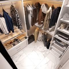 Dressing room by Студия дизайна и ремонта КВАДРАТ,