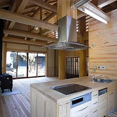 Built-in kitchens by ㈱本井建築研究所一級建築士事務所, Asian Wood Wood effect
