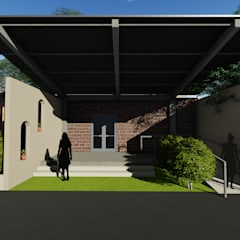 School for Visually Impaired:  Front doors by Shreya Lakhankar