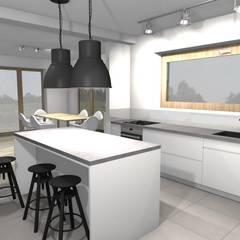 Dom pod lublinem: styl , w kategorii Aneks kuchenny zaprojektowany przez Arte Projektowanie Wnętrz