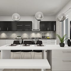 Small kitchens by PRATIKIZ MIMARLIK/ ARCHITECTURE, Minimalist