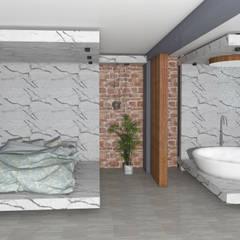 غرف نوم صغيرة تنفيذ SKY İç Mimarlık & Mimarlık Tasarım Stüdyosu