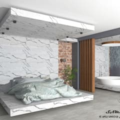Cuartos pequeños  de estilo  por SKY İç Mimarlık & Mimarlık Tasarım Stüdyosu