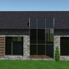 SKY İç Mimarlık & Mimarlık Tasarım Stüdyosu – Taş Ev Projemiz  ( Kazıklı - Muğla ):  tarz Kır evi,