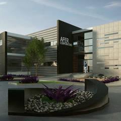 Diseño de Edificio Oficinas Corporativas: Estudios y oficinas de estilo  por DCA Arquitectura y Construccion