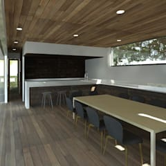 من MRH Arquitectos حداثي خشب Wood effect