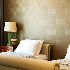 Sleek and Modern with Asian Style – Trump Tower Makati, Philippines:  Bedroom by SNS Lush Designs and Home Decor Consultancy