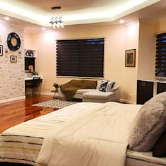 Fabulous Vacation House with a Flair – Tagaytay:  Bedroom by SNS Lush Designs and Home Decor Consultancy