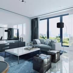 CASA HECAR, Diseño Arquitectura y Visualización 3D interior.: Livings de estilo  por CR.3D Modeling & Rendering
