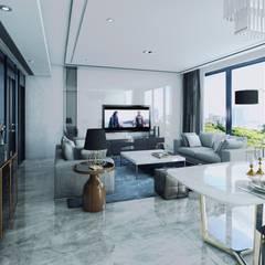 CASA HECAR, Diseño Arquitectura y Visualización 3D interior.: Comedores de estilo  por CR.3D Modeling & Rendering,